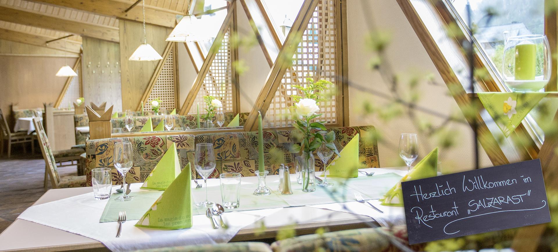 Restaurant ab 20. Mai geöffnet